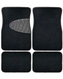 ARMORALL 4PC FLOOR MAT CARPET WITH HEAL PAD-(BLACK)