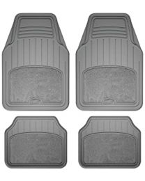ARMORALL 4PC FLOOR MAT CARPET WITH HEAL PAD-(GREY)