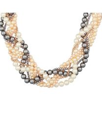 OLIVIA PLAITED PEARL NECKLACE