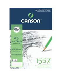 CANSON 1557 SKETCH PAD A4 SIZE 120GSM 50 SHEETS