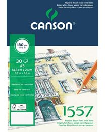 CANSON DRAWING PAD 1557 A4 SIZE 180GSM