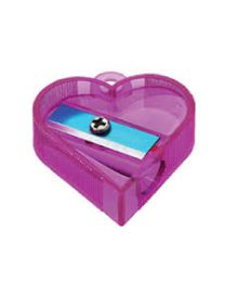NATARAJ NEON HEART SHARPENERS-ASSORTED COLOURS PACKED 20 PCS IN A JAR