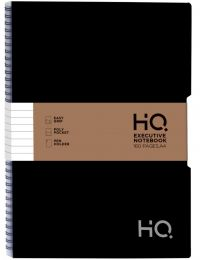 A4 HQ CLOSED WIRO EXECUTIVE POLY 1 SUBJECT NOTEBOOK - 80 SHEETS BLACK