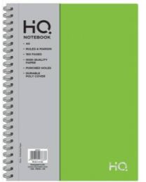 A5 HQ Poly Wiro Notebook 80 Sheets Green
