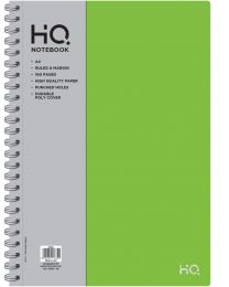 A4 Poly 1 Subject Notebook 80 sheets Logo Silver Foiled - Green