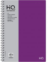 A4 Poly 1 Subject Notebook 80 sheets Logo Silver Foiled - Purple